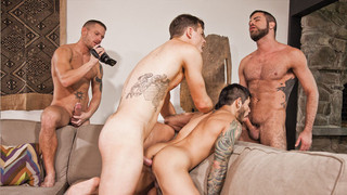 Bareback Sex Fest, sc 1 - Jed Athens, Shane Frost, M. Isaacs, D. Torres