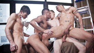 Barebacking: Peter Stark, Marcus Isaacs, Drew Sumrok, Jacob Lee