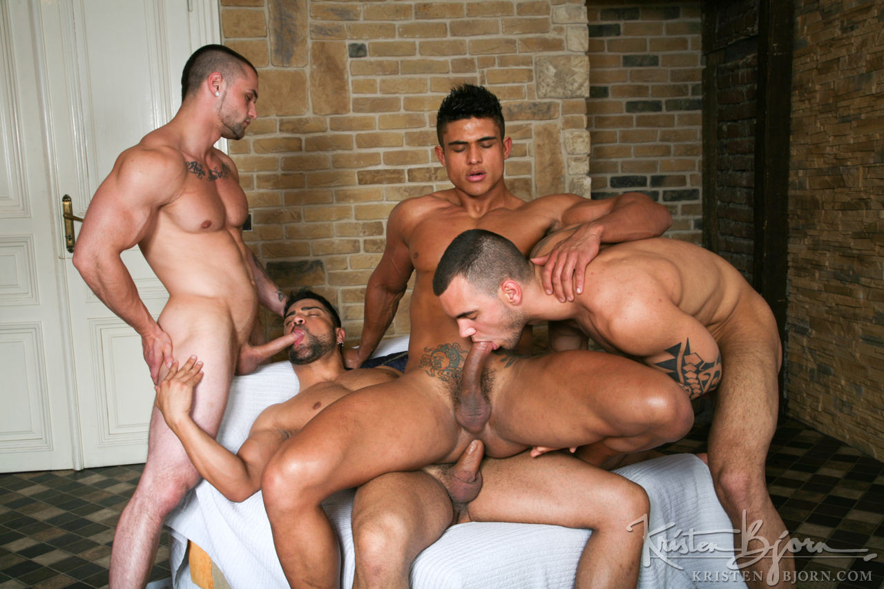 Weekend muscle orgy sex free