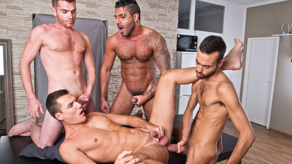 Bareback Party: Alex Lopez, Theo Ford, Raul Korso, and Fostter Riviera
