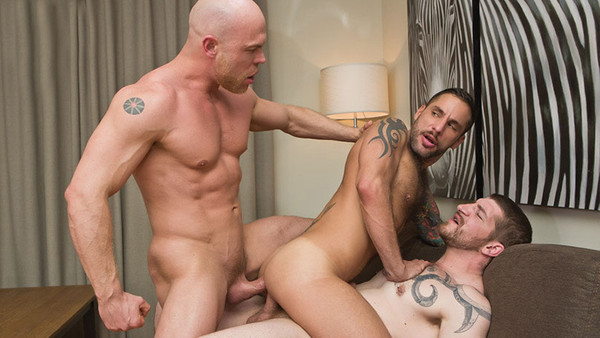 Raw Double Penetrations, sc 1- Jonathan Agassi, Jeff Stronger, Marco Milan